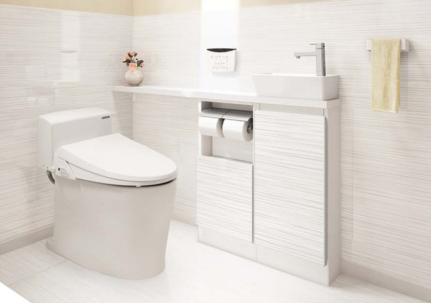 スタイリッシュで清潔なトイレ〈ティモニ〉